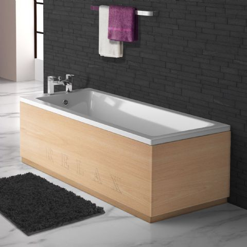 Beech Engraved 2 Piece adjustable Bath Panels
